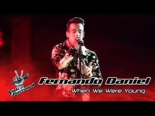 """Шоу """"Голос"""" Португалия. - Фернандо Даниэль с песней """"Когда мы были молоды"""". — """"The Voice"""" Portugal 2016. - Fernando Daniel - """"When We Were Young"""" (оригинал Adele)"""