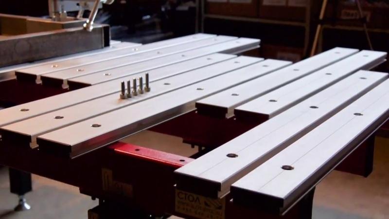 Сварочно-сборочный стол из наборных пластин