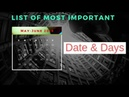 List of most important days and date in India May-June