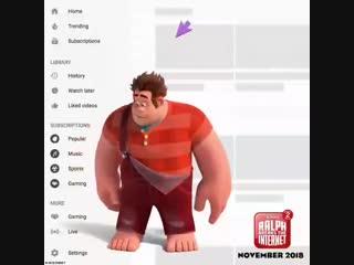 Ralph broke youtube