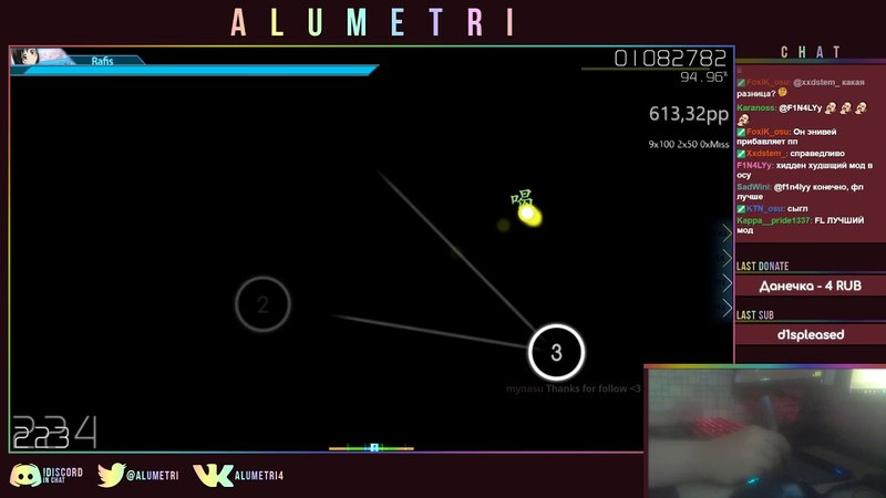 Osu! Alumetri Ayase Rie feat. Hata tan Yuima ru World TVver Extra HDHRDT 94.91% FC 704pp 4