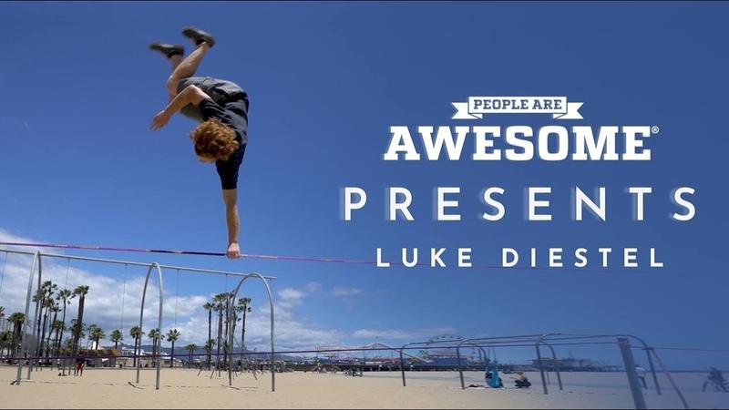 People Are Awesome Presents Luke Diestel Slackline