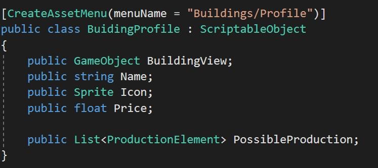 Приём использования ScriptableObject в Unity на примере зданий в стратегии + хак для редактора, изображение №5