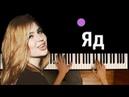Эрика Лундмоен - Яд ● караоке   PIANO_KARAOKE ● ᴴᴰ НОТЫ MIDI   Город разрушен. Город не нужен