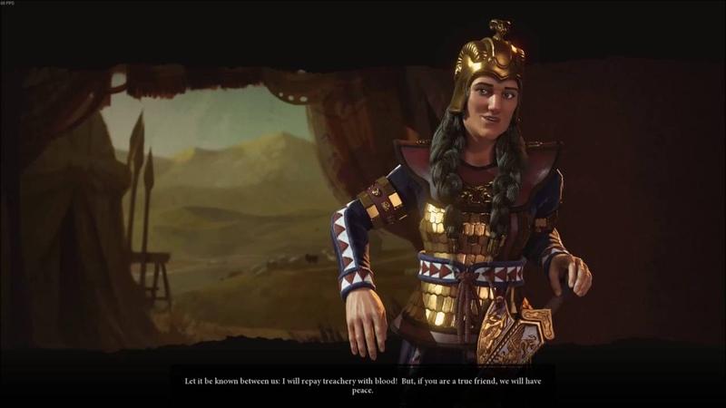 Civilization VI - Meeting Tomyris of Scythia