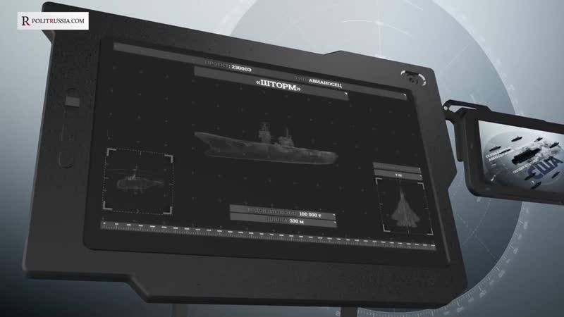 Авианосец Шторм изменит военно морскую стратегию России mp4