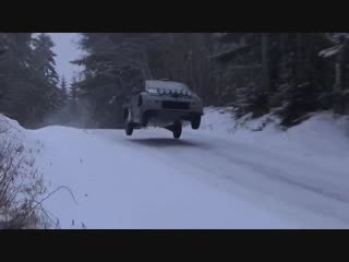 Toyota yaris wrc on the snow with JM Latvala