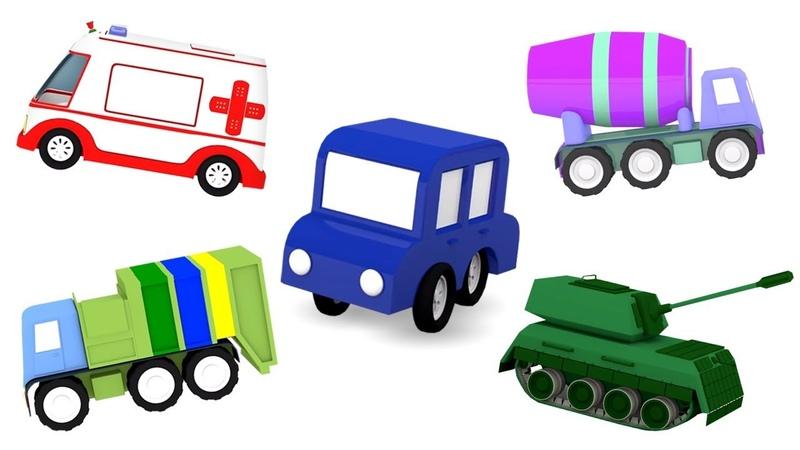 Creamos vehículos con 4 coches coloreados Vídeos de juguetes infantiles