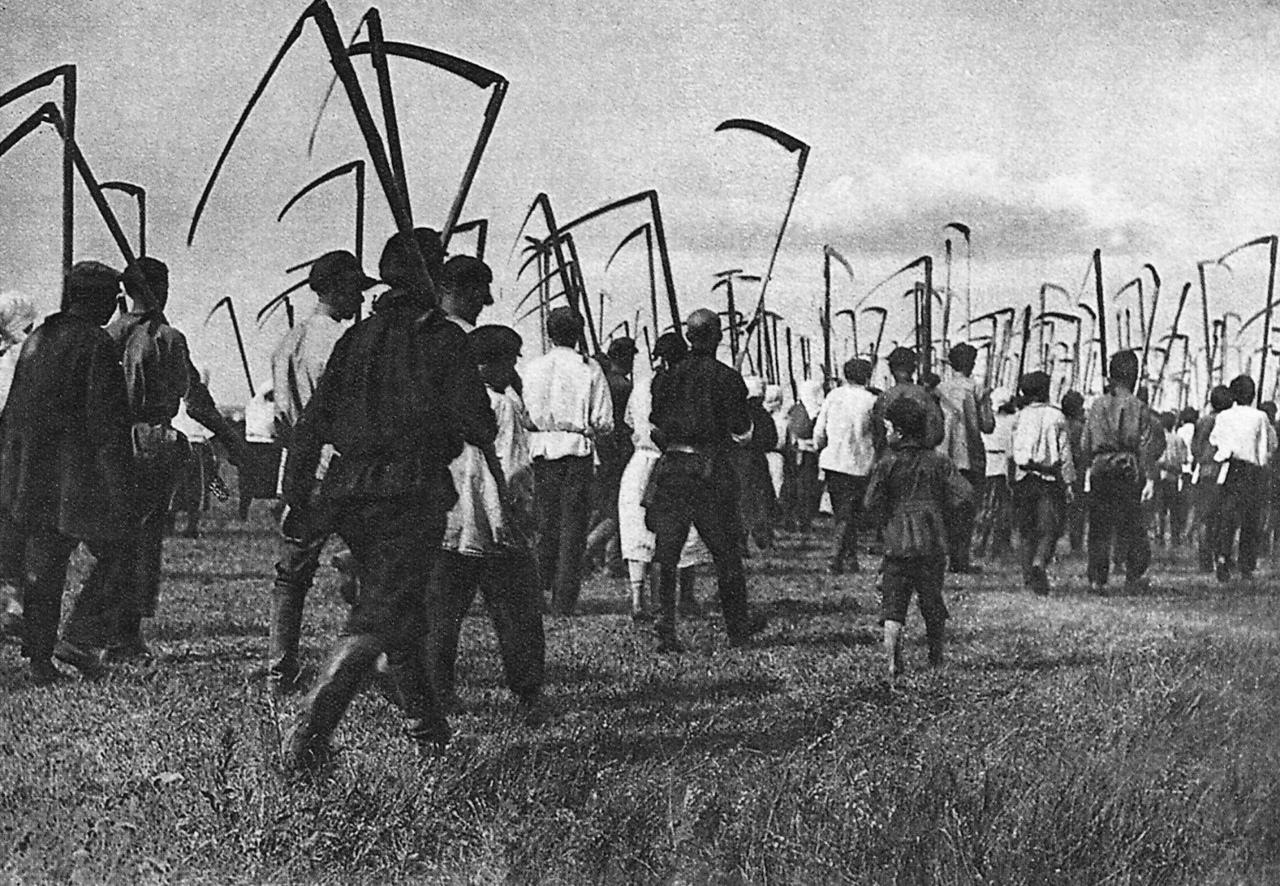 Колхозники. СССР. 1929 год.