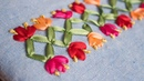 Bordado a mano: puntada decorativa21/fácil de hacer/Ribbon embroidery border/stitch decorative/Diy