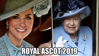 The Queen & Kate Middleton Both Wear Blue To Royal Ascot #twinning