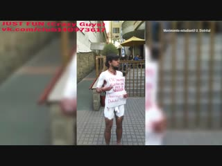 Student protester in colombia член хуй голый nude cock penis стриптиз public bodypaint