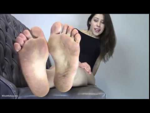 Sexy dirty feet sniff and lick pov