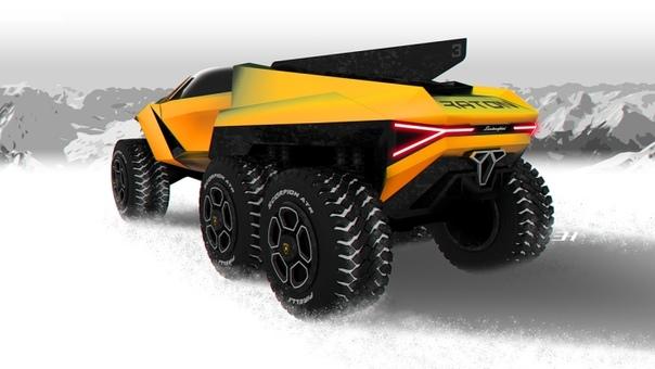 Lamborghini Raton: шестиколесный экстремальный внедорожник