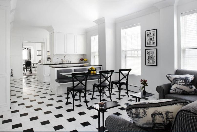 Черно-белая кухня – особенности контрастного дизайна., изображение №15