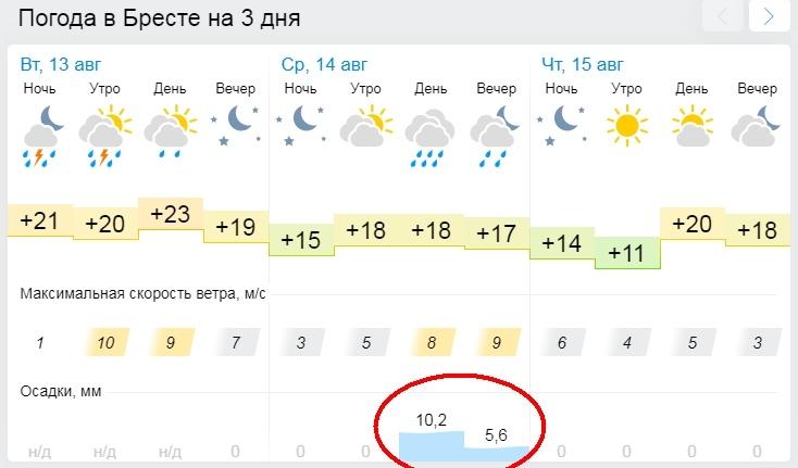 Опять? Оранжевый уровень опасности объявлен в Беларуси 14 августа из-за дождей и гроз