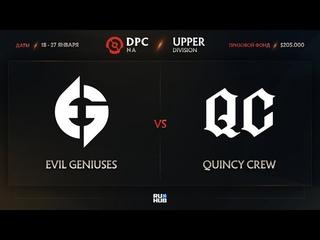 Evil Geniuses vs Quincy Crew, Dota Pro Circuit 2021: S1 - NA, bo1 [Mortalles & Adekvat]