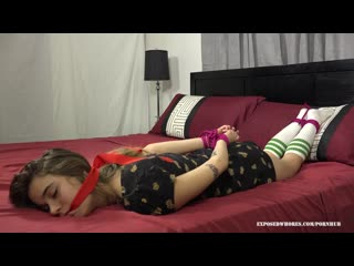 Teen petite slut gypsy bae finds herself tied up after taking a ride home!!