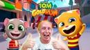 ГОВОРЯЩИЙ ТОМ БЕГ ЗА ЗОЛОТОМ Батл Том VS Джинджер Мульт битва в детском летсплее на канале DMCG