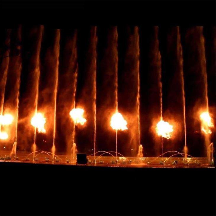 Фонтан с элементами огня Москва