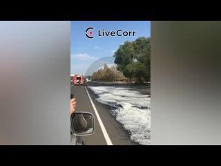 В Комсомольске-на-Амуре неизвестные испортили новый асфальт соляркой