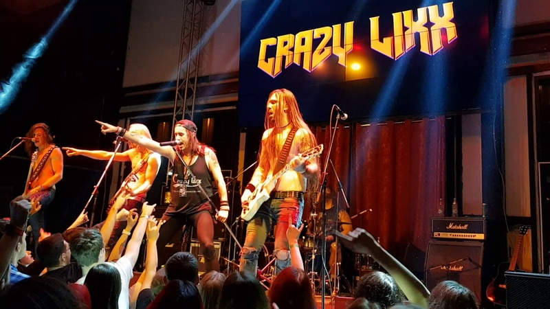 CRAZY LIXX Rock And A Hard Place / Blame It On Love live 19.11.2017, Moscow, RU