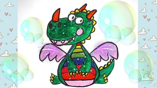 How To Draw a Cute Cartoon Dragon Easy. Drawing lesson for Kids or  So Cute.