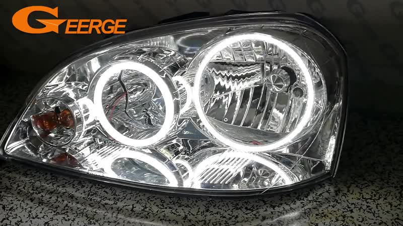 For Chevrolet Lacetti Optra Nubira 2002 2008 Excellent DRL Ultra bright illumination smd led Angel Eyes Halo Ring kit