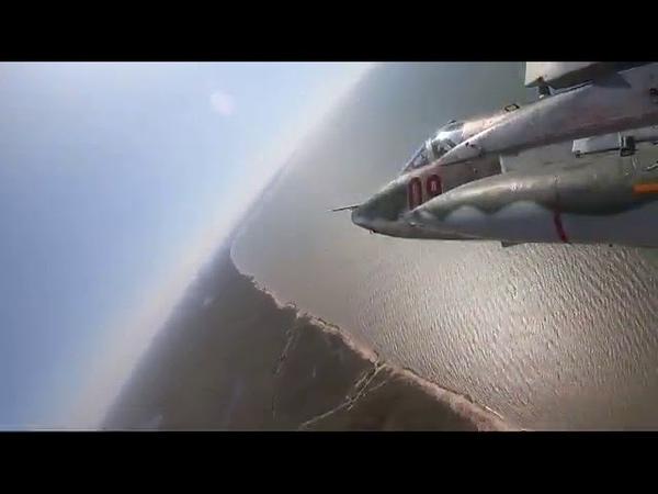 Летчики штурмовиков Су-25СМ3 учились преодолевать ПВО противника на Кубани