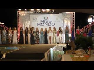 Miss mondo italia 2017 sfilata in abito e premiazioni villa momis