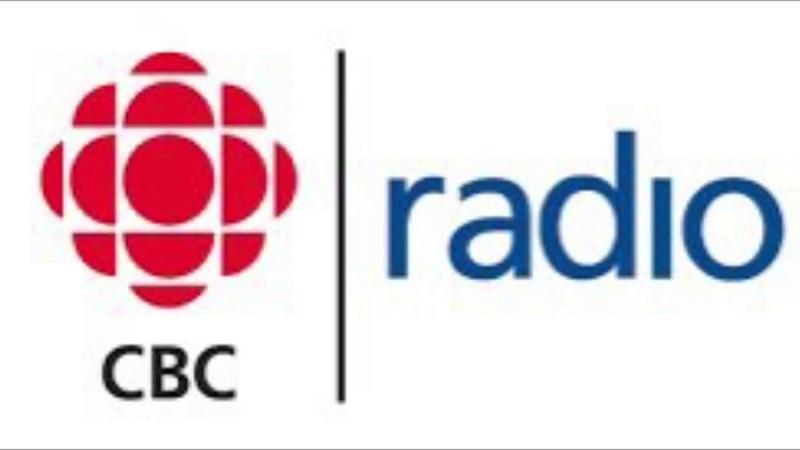 Tessa Virtue and Scott Moir on CBC Radio One at the Hometown Stars celebration
