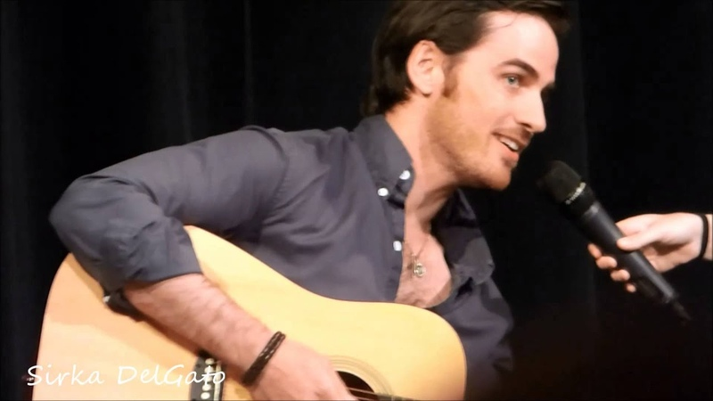 Colin O'Donoghue singing and playing Guitar at the FairyTales Con III 3