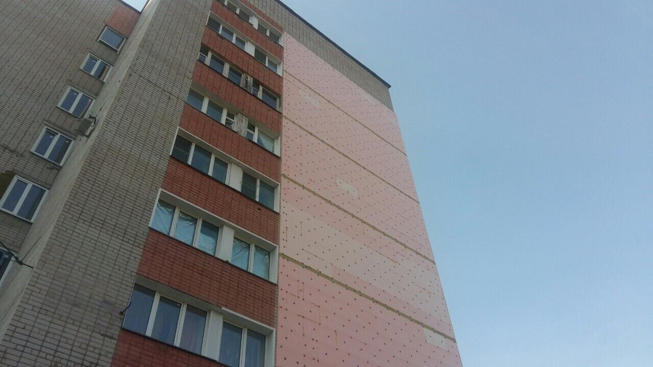 Улица Чехова дом 8 утепление торцевой стены