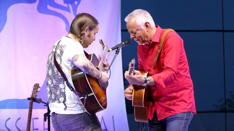 Guitar Boogie Tommy Emmanuel and Billy Strings at GreyFox Bluegrass Festival 2019
