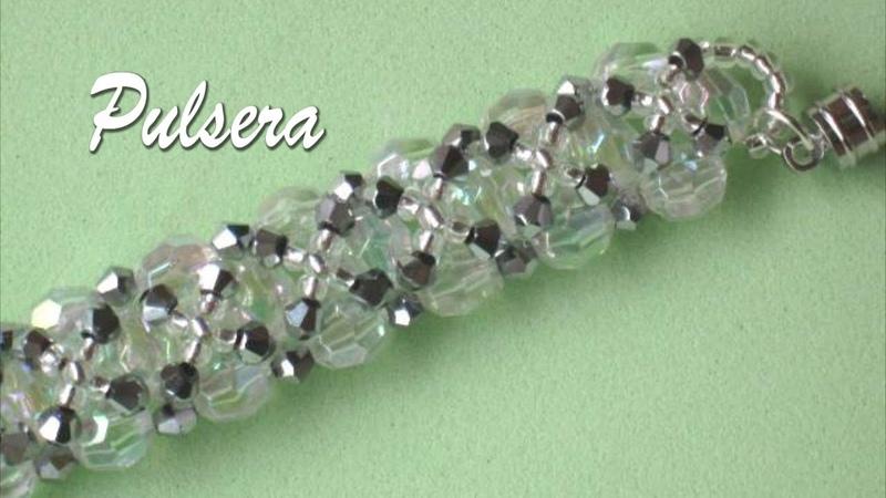 DIY Pulsera gargantilla o collar de cristales acrílicos y tupis Choker or necklace bracelet