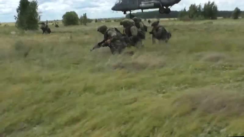 Учение с десантниками 31-й одшбр в Ульяновской области.