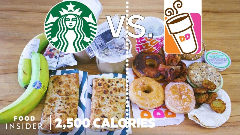 Starbucks Breakfast vs Dunkin Donuts Breakfast 2 500 Calories