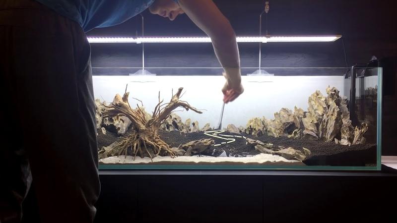 My first aquascape Hardscape Мой первый аквариум Создание хардскейпа