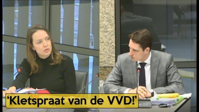 Van Dijk PVV v Becker VVD 'Weer mooie praatjes voor de bühne ' Politiek YouTube