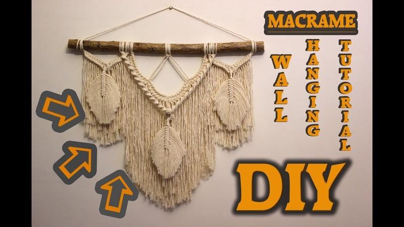 Tutorial Macrame wall hanging. DIY | Home decor handmade |