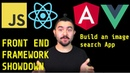 Front-End Showdown 2018 - Build an image search app with: Vanilla JS, React.js, Angular 6 and Vue.js