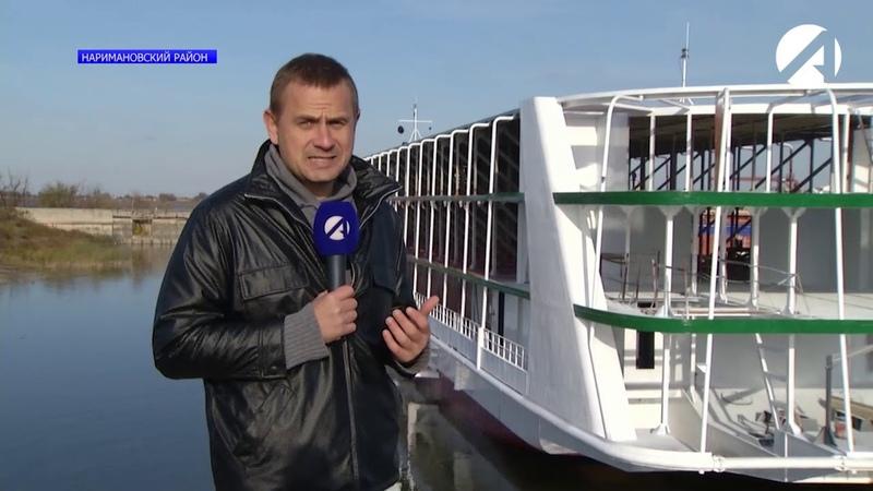 На Астраханском судостроительном заводе «Лотос» спустили на воду речное круизное судно
