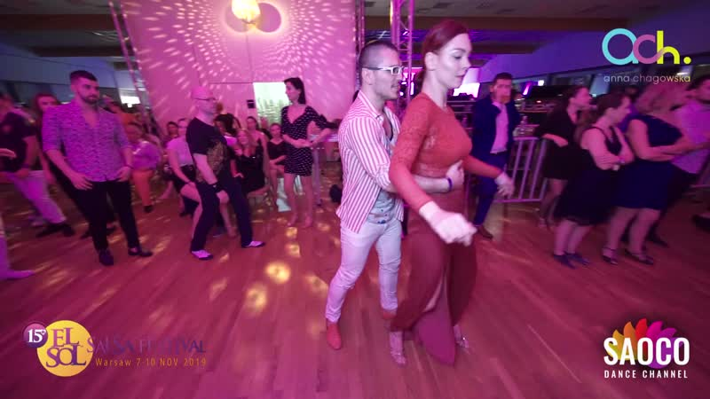 Deniz Seven and Ksenia Kozlovskaya Salsa Dancing at El Sol Warsaw Salsa Festival 2019, Saturday 09.11.2019