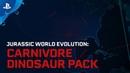 Jurassic World Evolution | Carnivore Dinosaur Pack | PS4