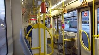 Через мост А. Невского! Трамвай Санкт-Петербурга 9-52:  (УКВЗ) б.7504 по №23 ()