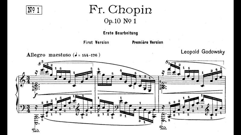 Godowsky Studies on Chopin's Etudes Op 10 Stanhope