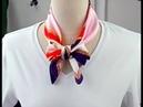 15 Chic Ways to Tie a Silk Scarf | How to Wear a Silk Scarf 丝巾(方巾)的多种系法