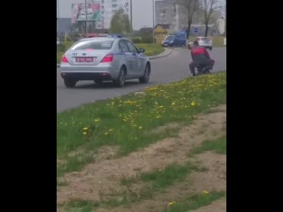 ГАИ в Дзержинске преследует особо опасного преступника.