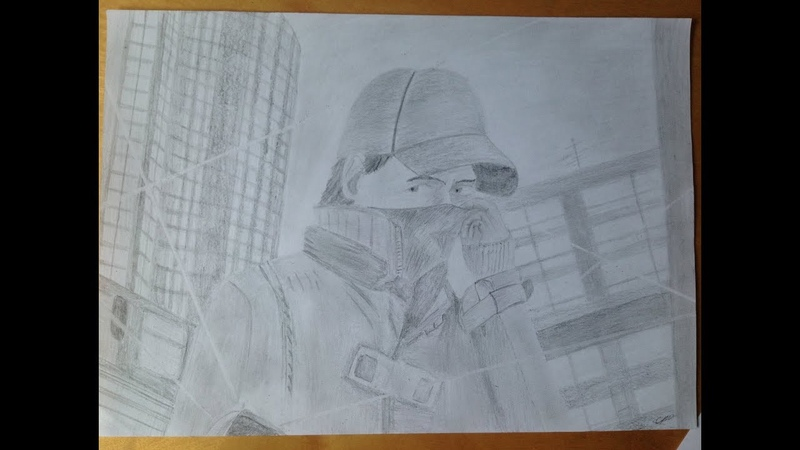 DRAW AIDEN - WATCH DOGS