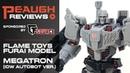 Video Review Flame Toys Furai Model Kit MEGATRON IDW Autobot Ver